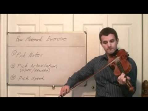 Learn to Play Fast and Slow on Violin- Violin Bow Movement Exercise