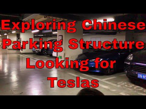 Exploring Parking Structure in Beijing Looking for Tesla's