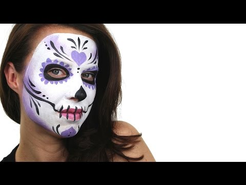 Beginners Sugar Skull Face Painting Tutorial | Snazaroo