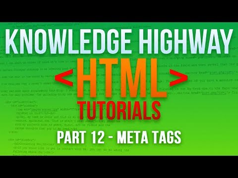 How to program in HTML #12 - Meta Tags