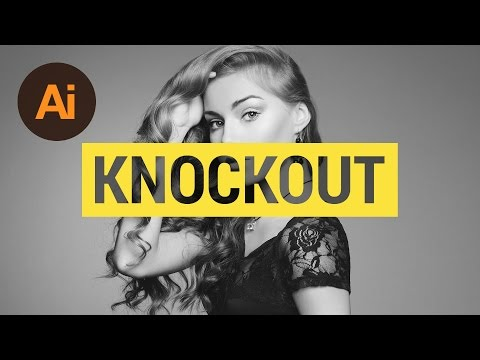 Design a Knockout Text Effect Illustrator Tutorial