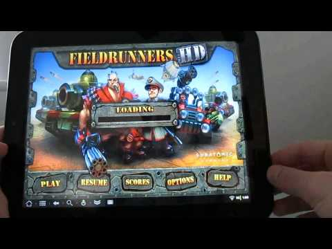 Android games on the HP TouchPad tablet