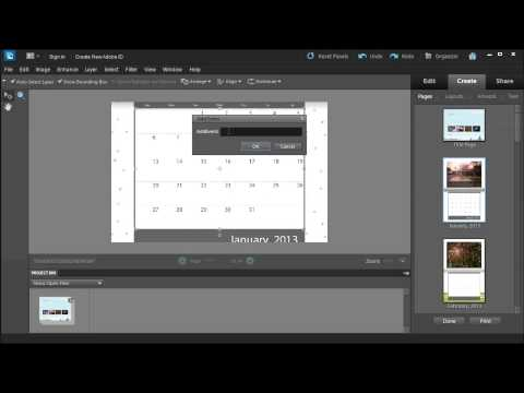 Learn how to create a collage or calendar in Adobe Photoshop Elements 10