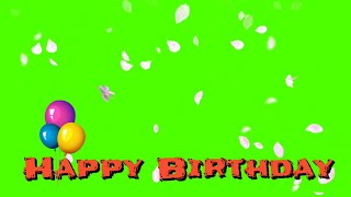 Best Green Screen Happy Birthday Animated Frame - Free Download