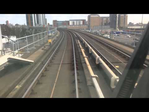 Docklands Light Railway Bank To London City airport (time lapse)
