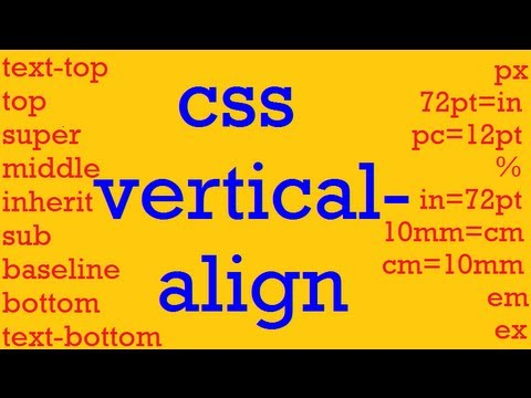 CSS how to: vertical-align