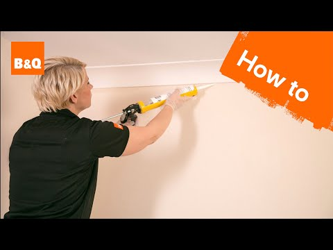 How to put up coving