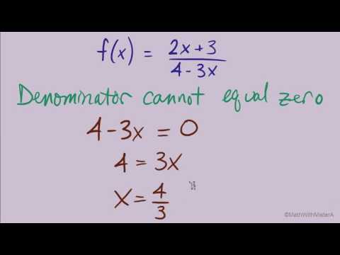 Finding the Domain of Algebraic Functions