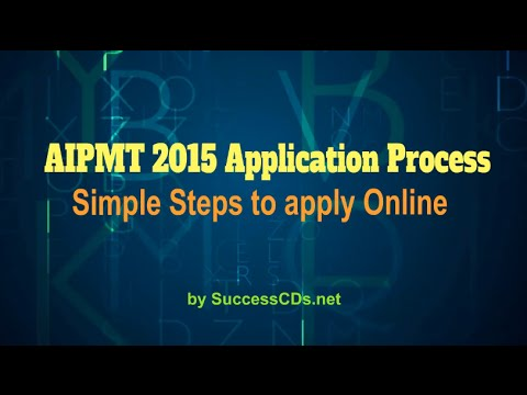 AIPMT  2015 Application Process