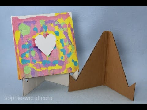 How to Make an Easel from Recycled Cardboard | Sophie's World