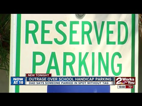 Outrage over handicap parking at local school