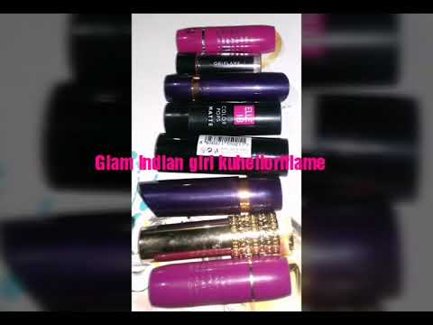 Glam indian girl kuheli's affordable lipstick collection review/oriflame lipstick collection😊😊