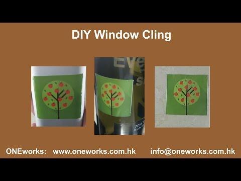 DIY window cling