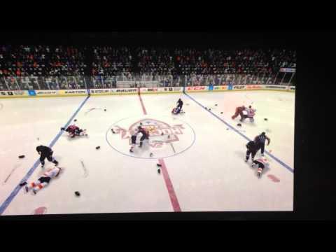 NHL14 Community Line Brawl