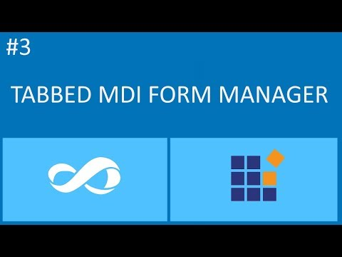 Syncfusion Tutorial #3 - Tabbed MDI Manager Syncfusin And Visual Basic Net