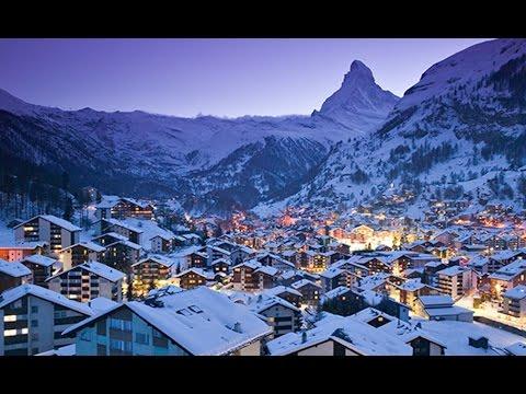 Swiss Alps Ski VILLAGE! (Zermatt, Switzerland)