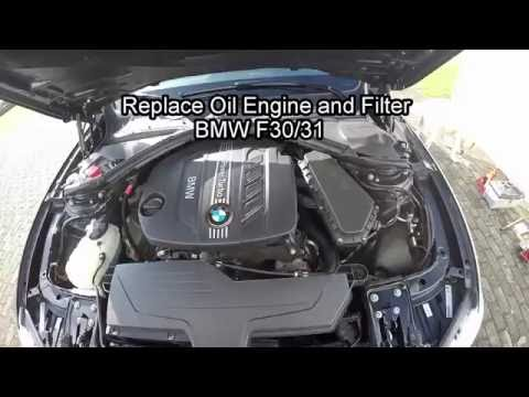 BMW 320 Oil Engine and Oil Filter F30 F31 Replacement
