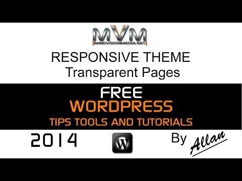 WordPress Responsive Theme Transparent Pages