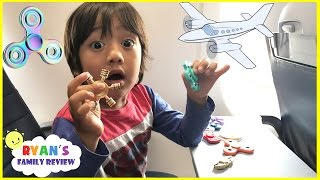 FIDGET SPINNER CHALLENGE ON THE AIRPLANE and Extreme Warheads challenge Sour Candy