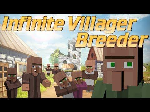 Minecraft | How to Make a Villager Breeder | Infinite Villager Breeder | Micro Minecraft Farm Tutori