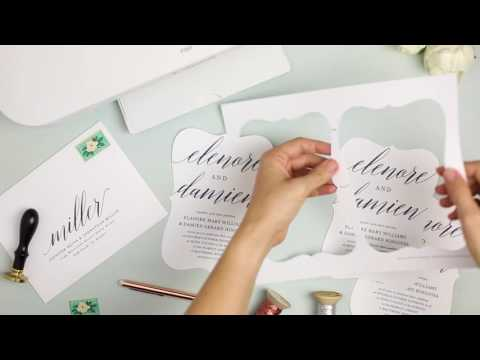 How To Print Your Own Wedding Invitations At Home with Everly Card Stock