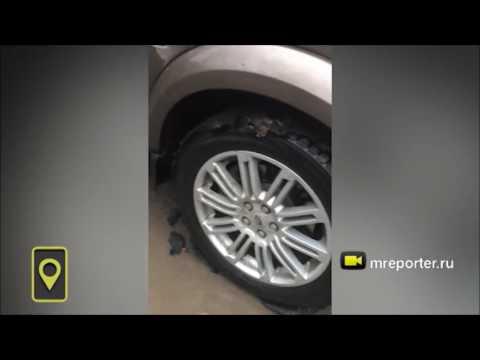 Ростовские автовладельцы намотали на колёса свежеуложенный асфальт