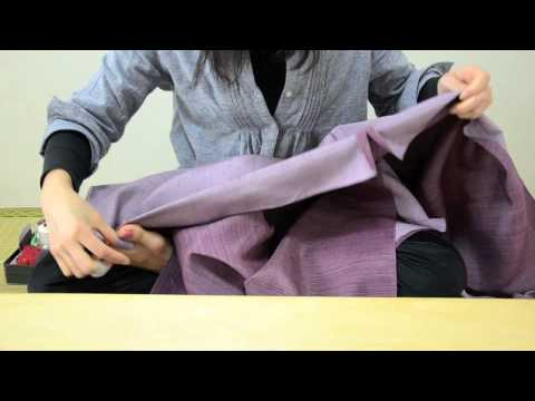 3 steps of purely hand sewing Kimono