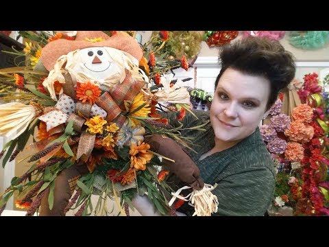 Fall Scarecrow Door Swag