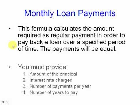 Calculate Monthly Loan Payments