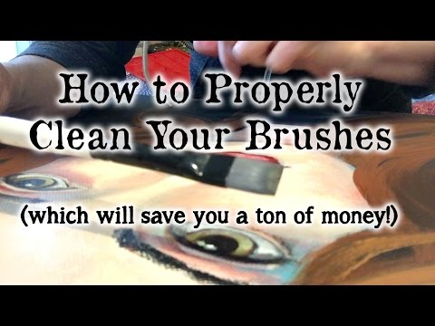 How to Properly Clean Your Brushes