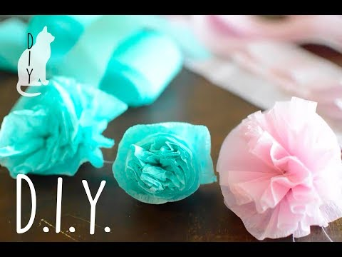 DIY Easy Paper Flowers, Streamer Flowers, Crepe Paper Flowers