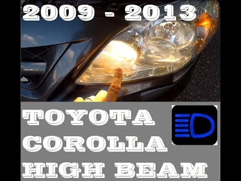 How to replace High beam light bulb in Toyota Corolla 2009-2013