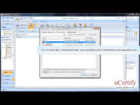 ms-outlook-2007-how-to-create-and-modify-distribution-list-demo