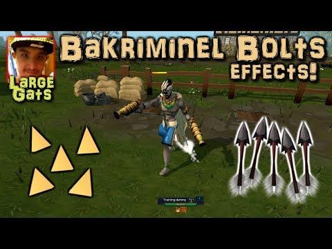 Bakriminel bolts - Enchantment effects revealed!