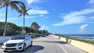Beach Town Driving - Rich & Famous 4K - Palm Beach USA