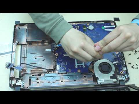 samsung RV510 laptop disassembly remove motherboard/hard drive/cooling fan etc.