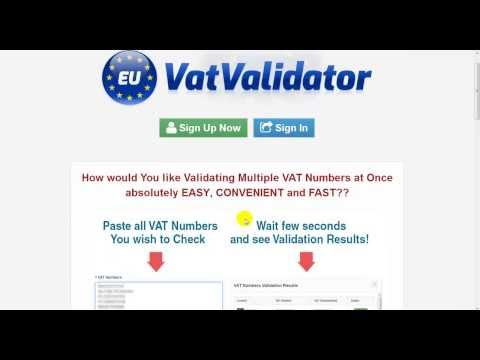 Validate Multiple VAT Numbers