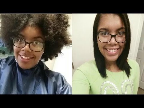 Virgin relaxer on natural hair