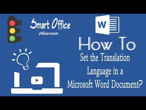 Set Translation Language in Microsoft Word 365