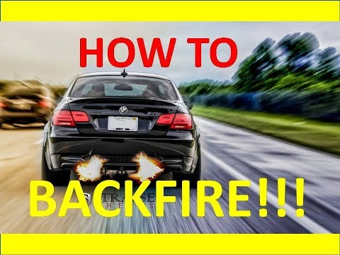 How to make your turbo car BACKFIRE!!!