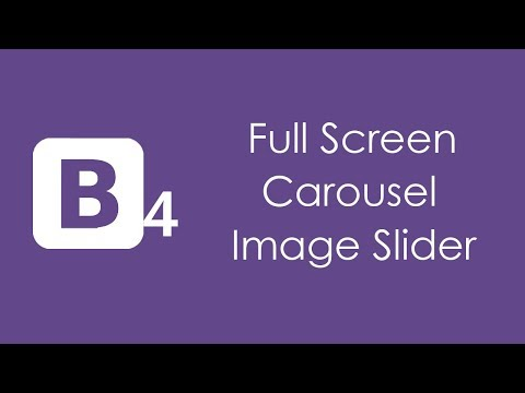 Bootstrap 4 Full Screen Image Slider - HTML5 and CSS3 Tutorial