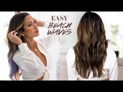 EASY EVERYDAY BEACH WAVES | Hair Tutorial