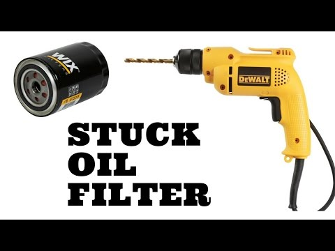 How to Remove a Stuck Oil Filter With a Power Drill