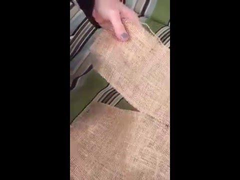 The magic trick when cutting burlap!