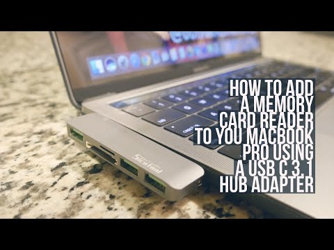USB C 3.1 Hub Adapter for Macbook Pro | How To Add Memory Card Reader