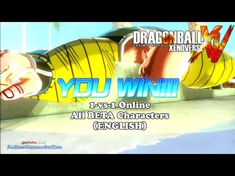 Dragon Ball Xenoverse 1-vs-1 Online All Network Test BETA Characters (English)