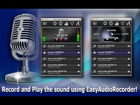 Easy Audio Recorder: recording audio in M4A, WAV, AIFF and CAF formats