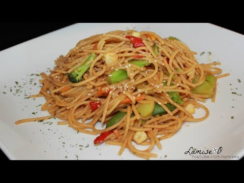 Stir- Fried Vegetable And Spaghetti Recipe | Vegan Friendly Pasta Dish | Episode 131