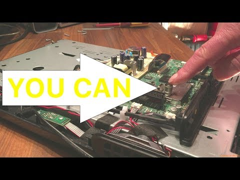 How to easily repair an antenna socket on an LCD Flat panel TV yourself