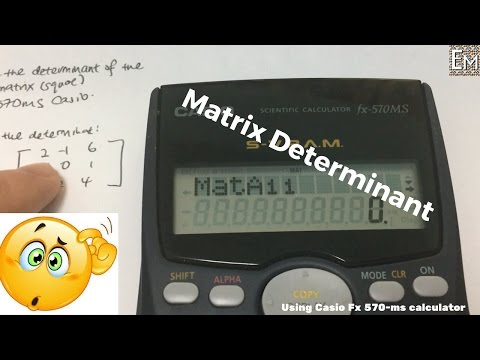 Finding matrix determinant (Casio Fx-570ms)